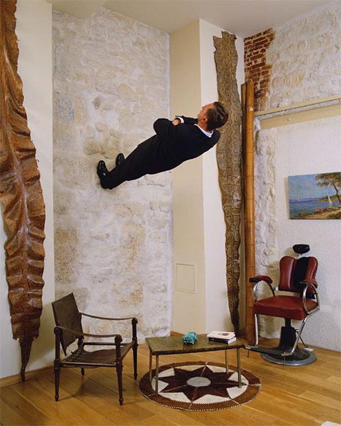 philippe ramette12 Чудеса гравитации Филиппа Рамета