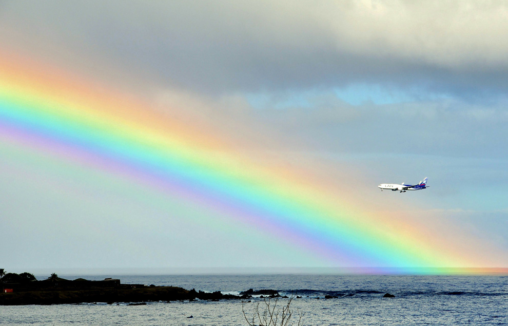 Мимо радуги над заливом анкароа у