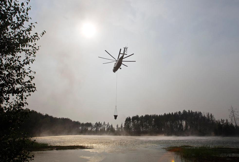 Лесные пожары в России продолжаются