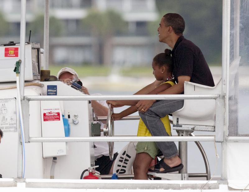 Каникулы президента США Барака Обамы и его семьи во Флориде.