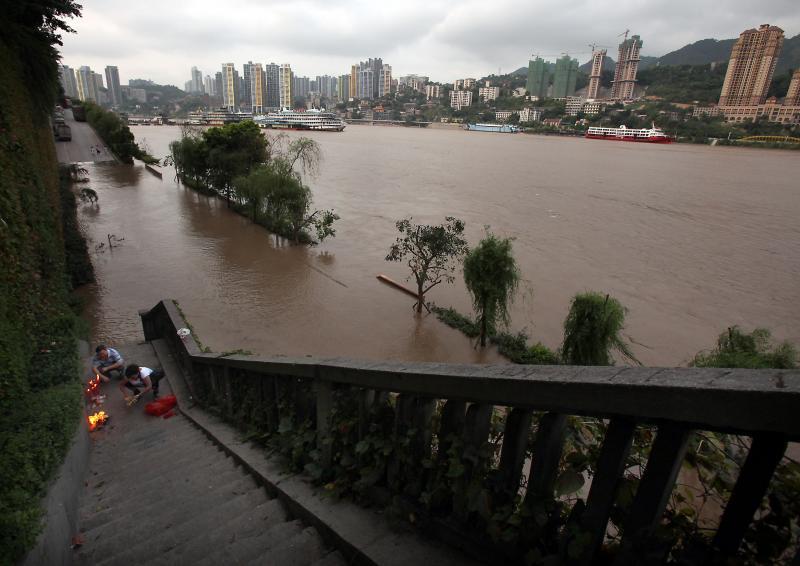 Очередное наводнение вКитае