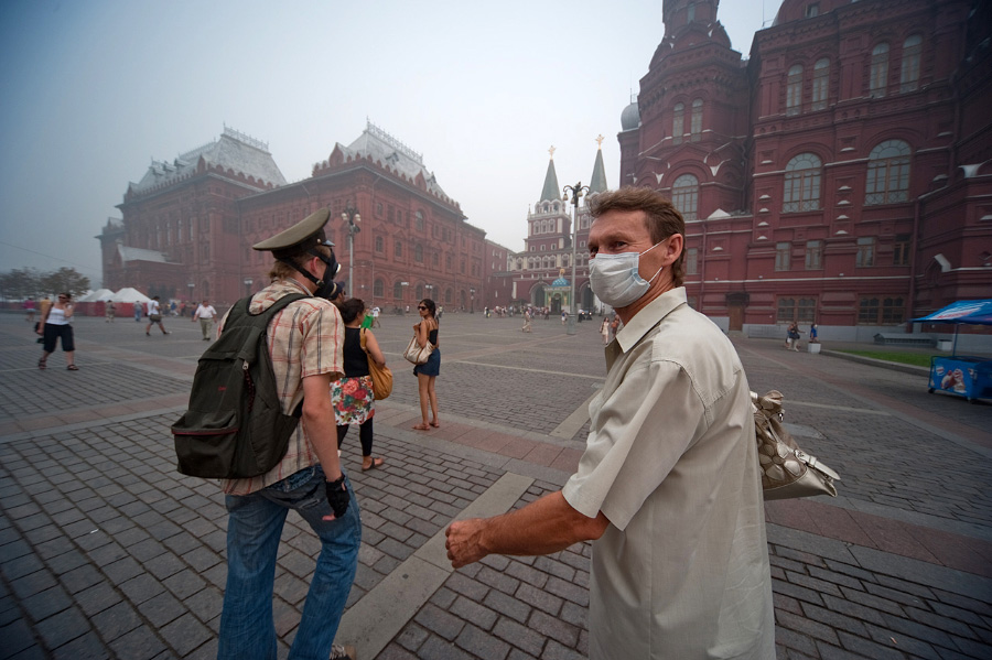Дым в Москве