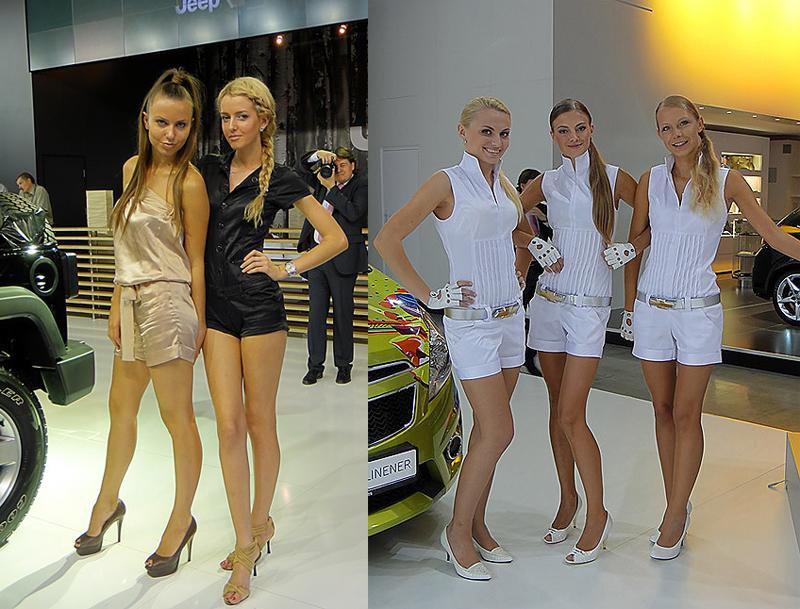 Девушки с автомобильных выставок