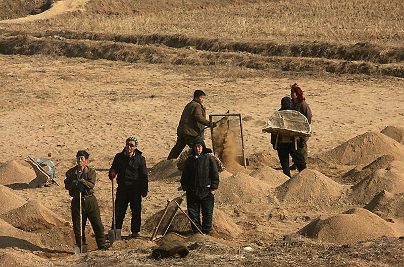 Редкие виды сельской Северной Кореи