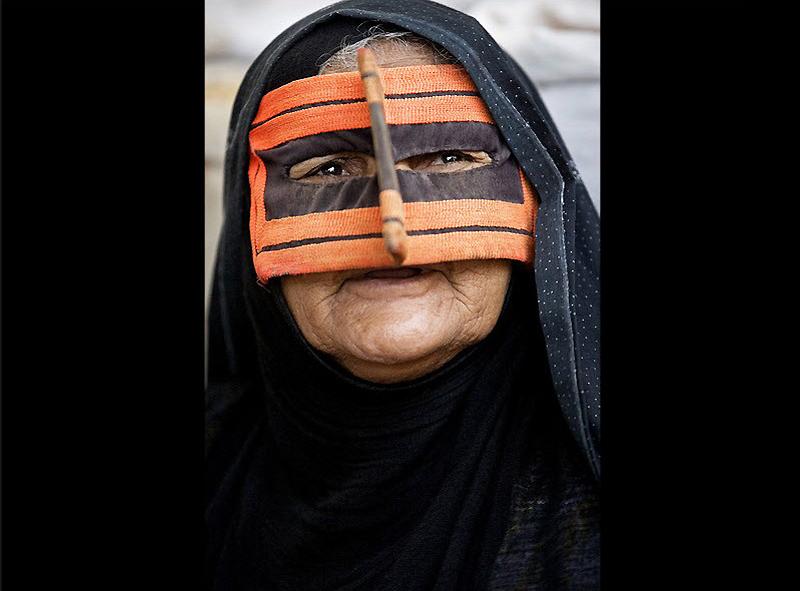 masks15 Традиционные маски у иранских женщин