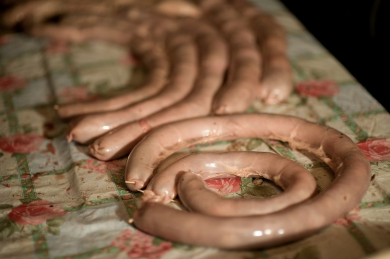 Приготовление конской колбасы - от и до...