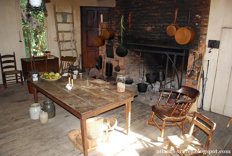 На кухне в доме плантатора: обед