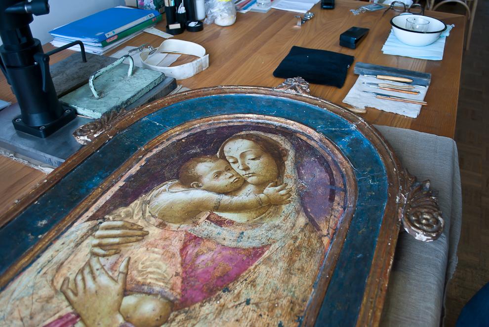 реставрация темперной живописи: