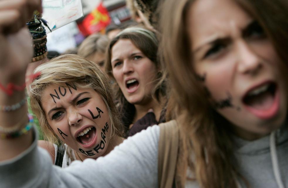 Забастовки во Франции