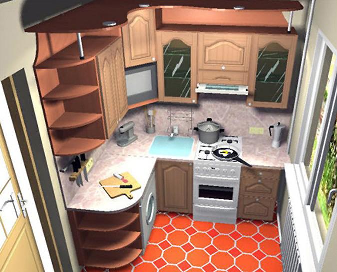 Дизайн маленькой кухни Домострой