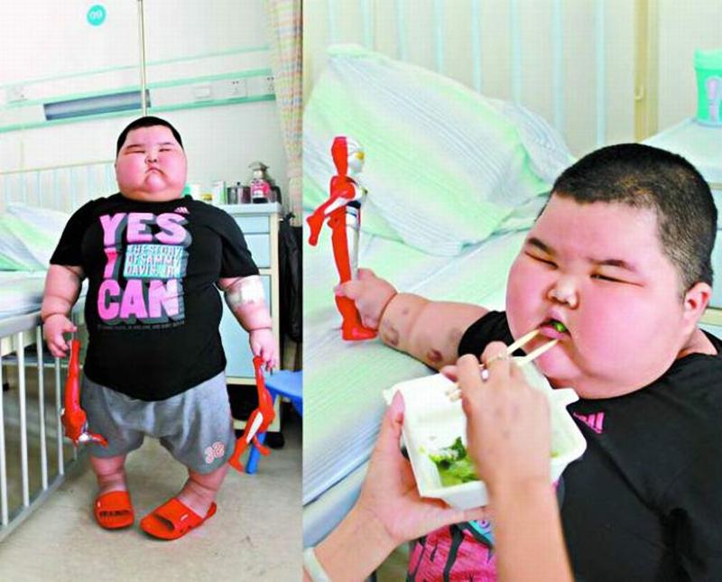 xiaohao 004 3 летний китаец весит 60 кило