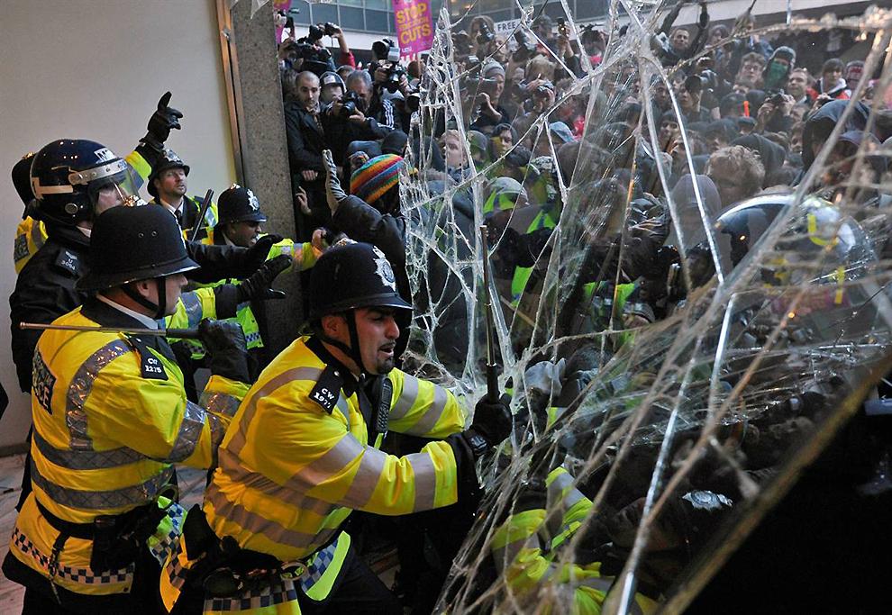 0121 Студенческие протесты в Лондоне
