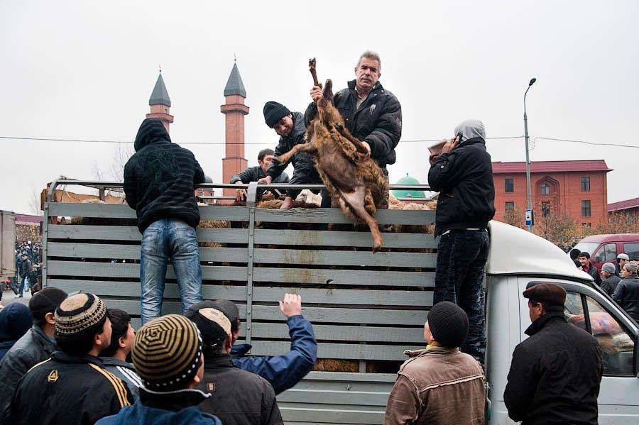 0535 Праздник жертвоприношения Курбан Байрам в Москве