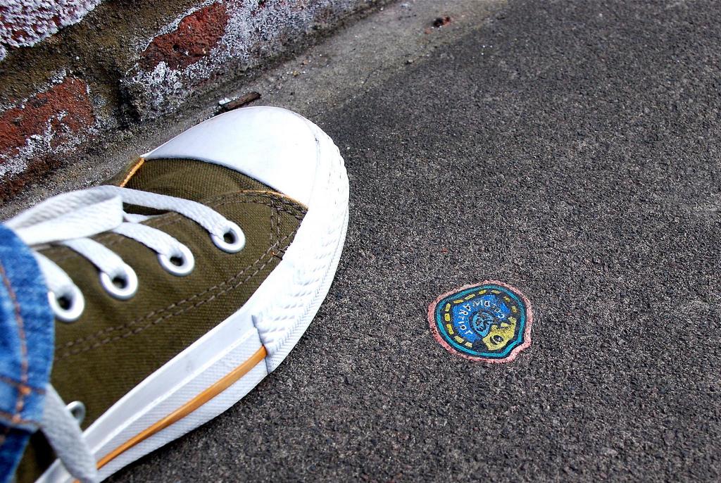 1041 Уличное искусство из жевательной резинки