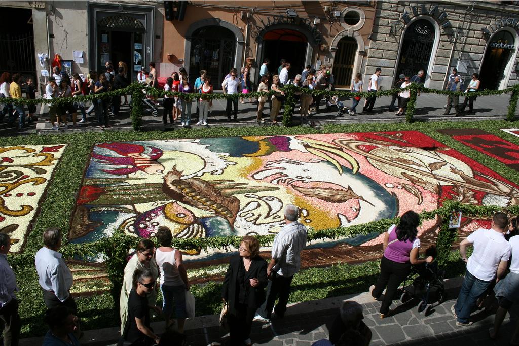 11 Цветочные ковры Италии