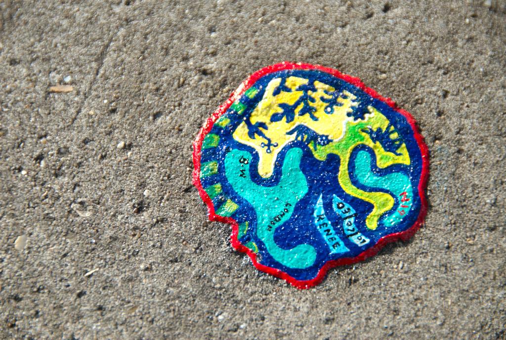 1145 Уличное искусство из жевательной резинки