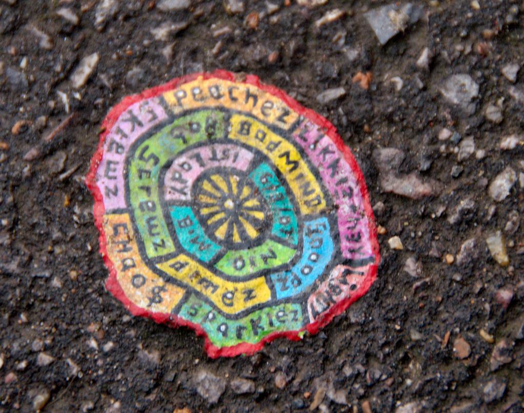 Уличное исскуство из жевательной резинки