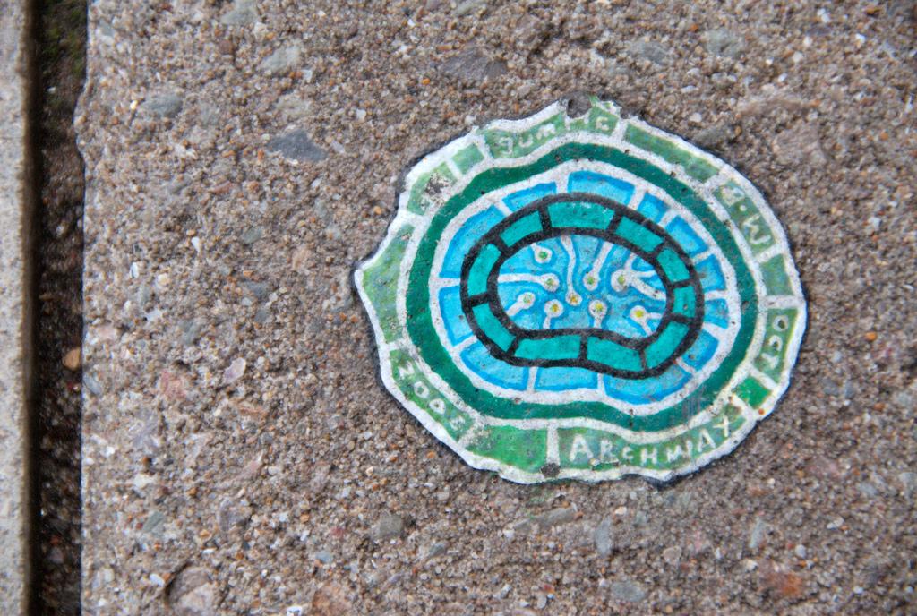 1429 Уличное искусство из жевательной резинки