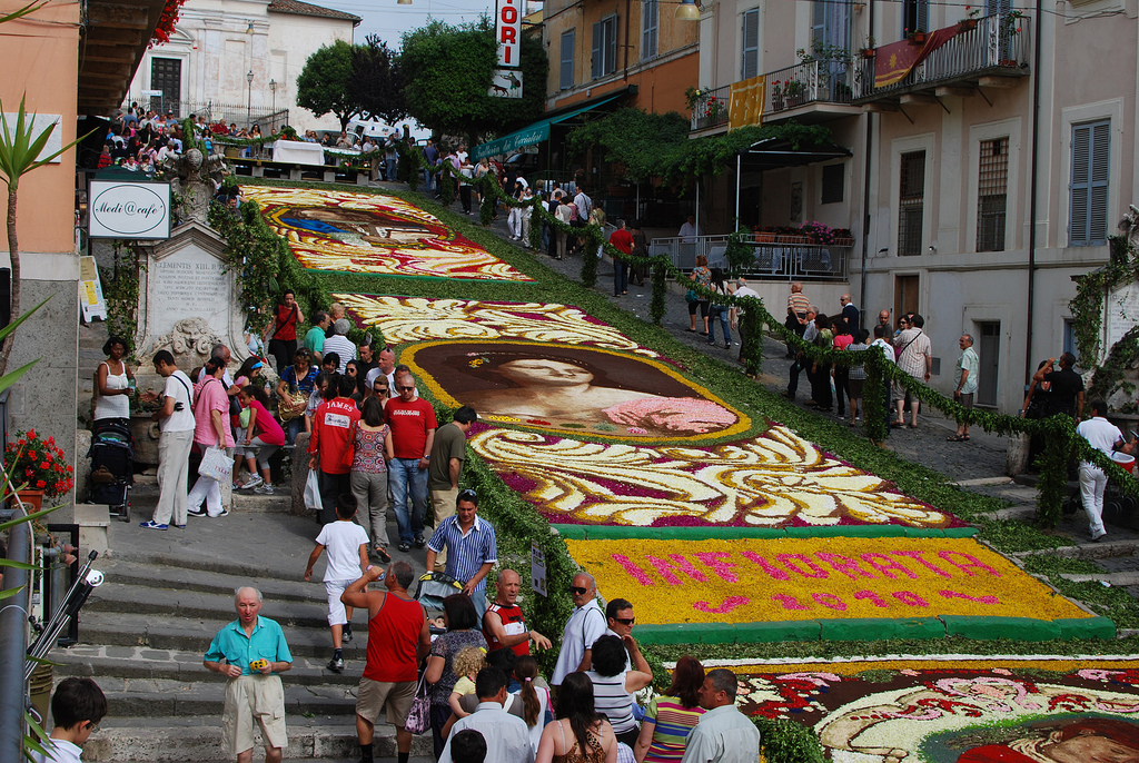 2 Flower carpets Italy