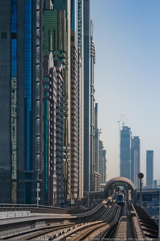Дубайский метрополитен.