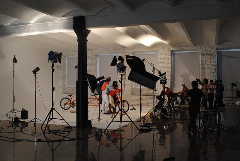 Съемки рекламного ролика