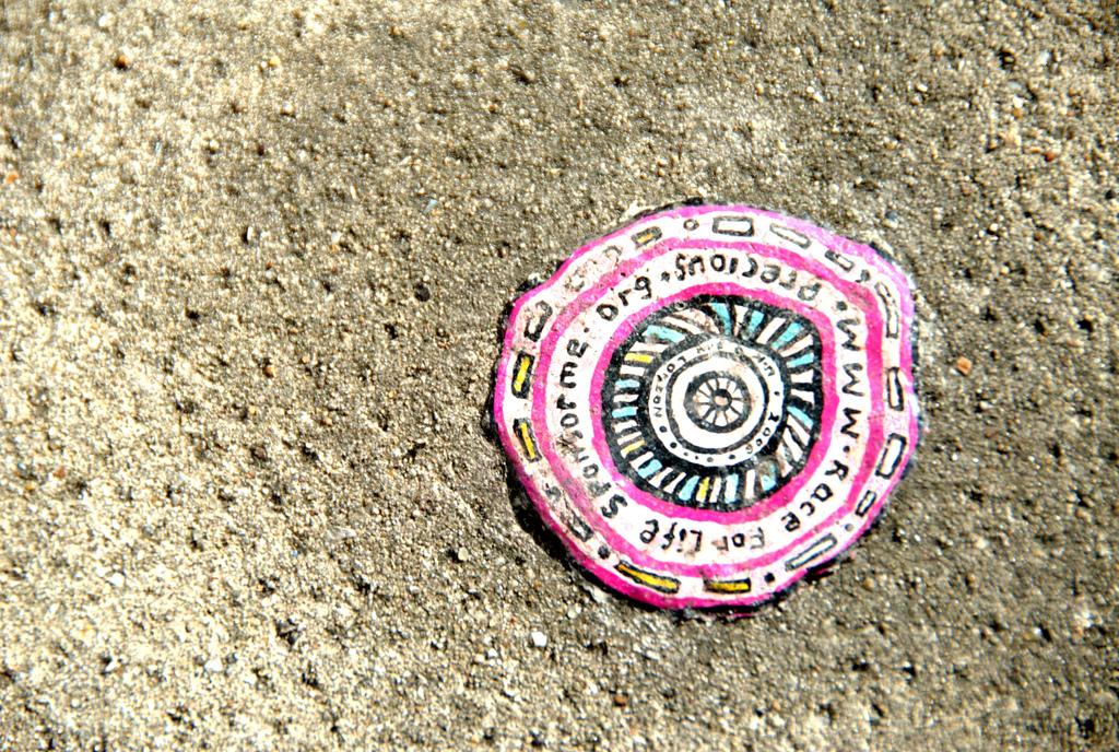 528 Уличное искусство из жевательной резинки