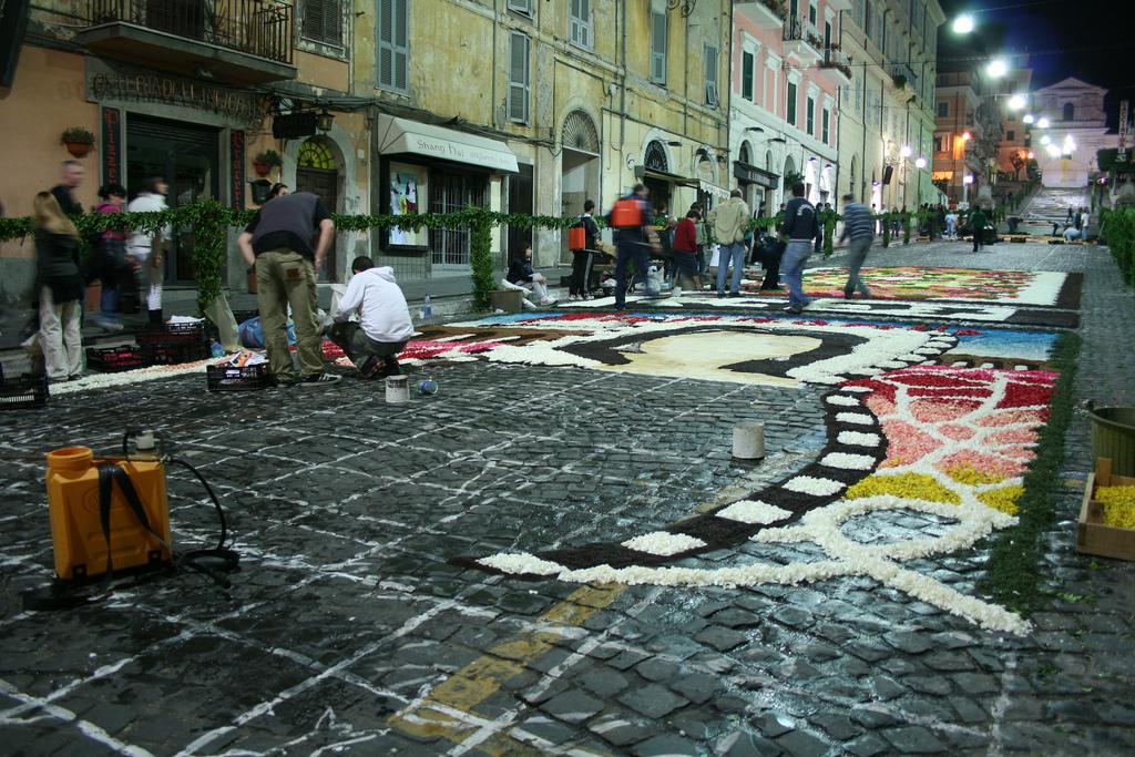 6 Цветочные ковры Италии
