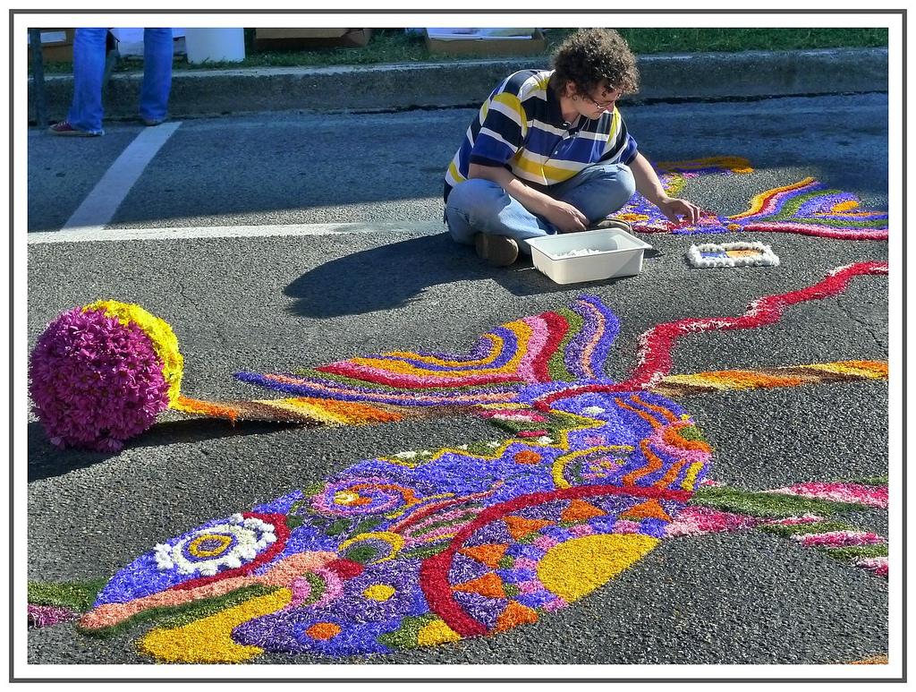 9 Цветочные ковры Италии
