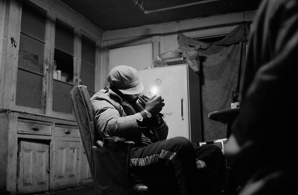 Наркоман в Гарлеме