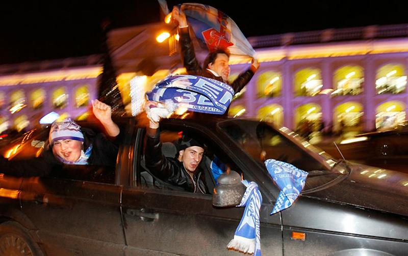 Фанаты «Зенит» отпраздновали победу любимой команды