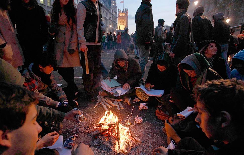 london protest06 Студенческие беспорядки в Лондоне продолжаются