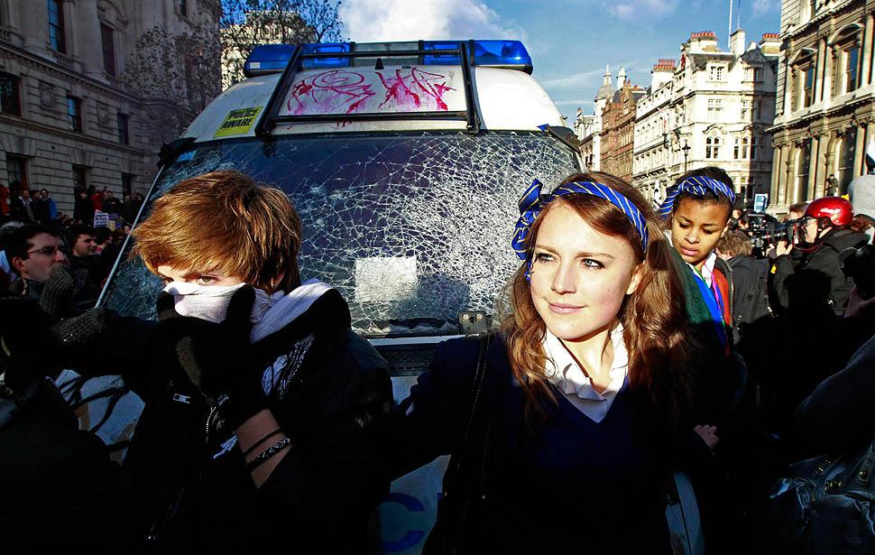 london protest10 Студенческие беспорядки в Лондоне продолжаются