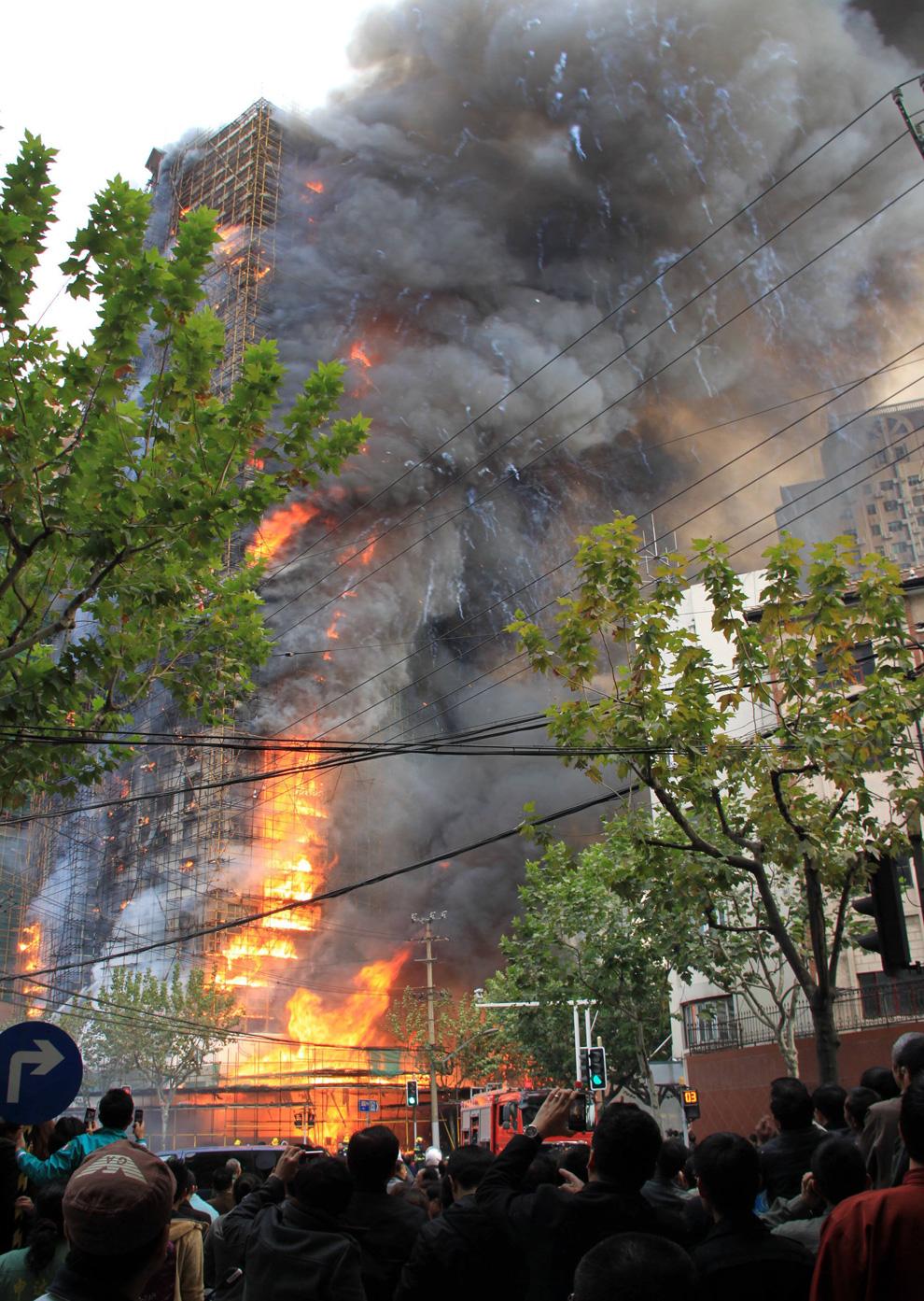 s02 2594 Пожар в шанхайском жилом доме