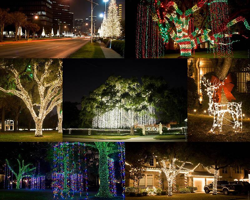 Рождественские огни американских городов