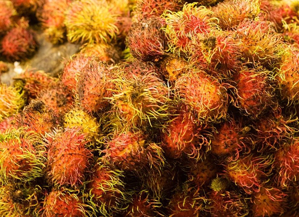Уличный фруктовый рынок. Таиланд.