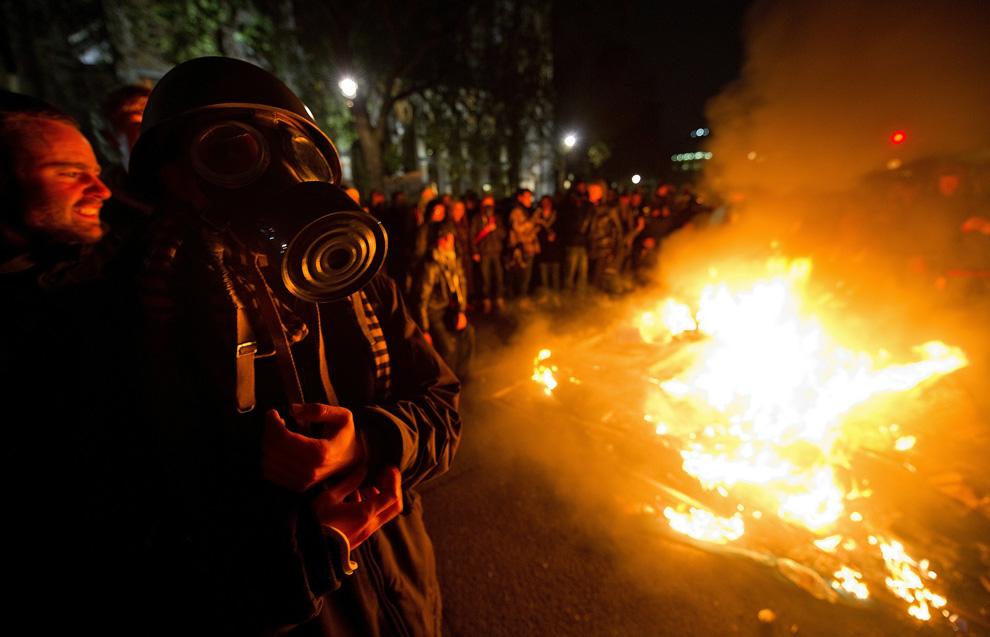 l22 2626 Студенческие акции протеста в Лондоне