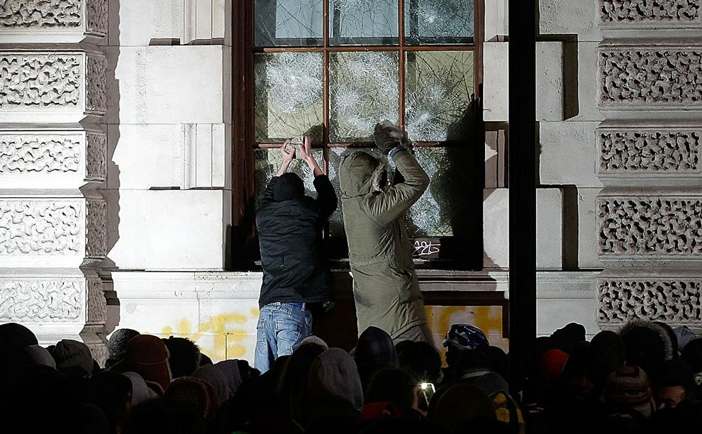 l28 2626 Студенческие акции протеста в Лондоне