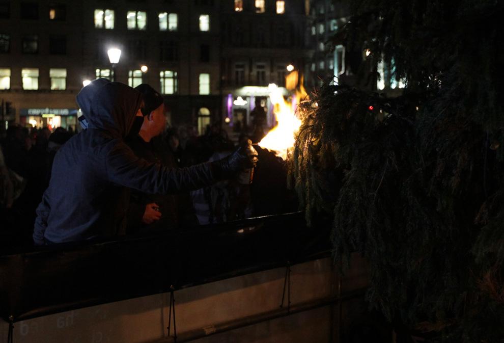 l31 2626 Студенческие акции протеста в Лондоне
