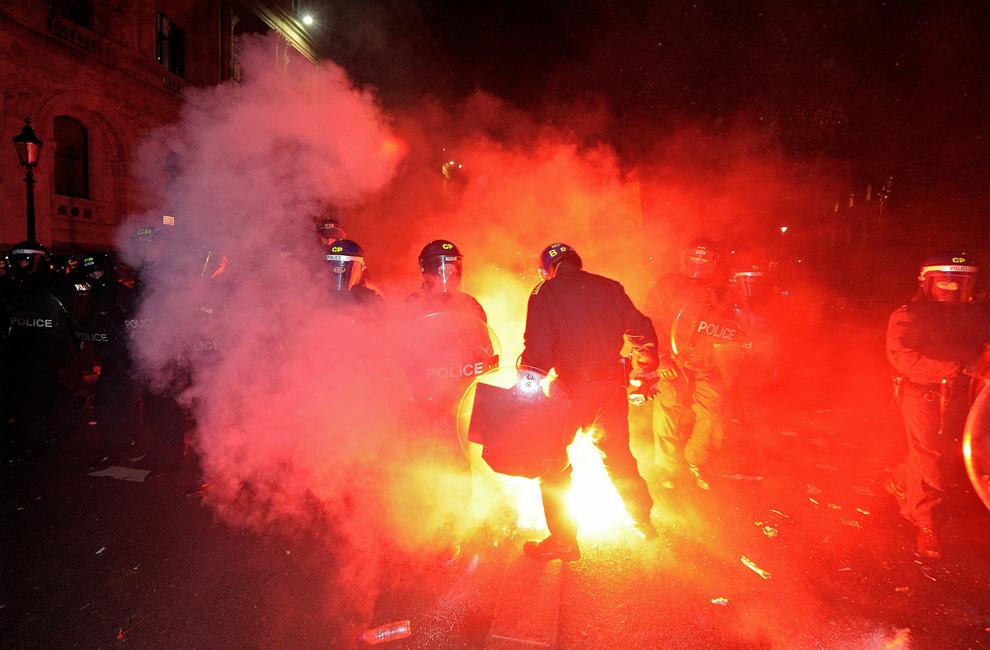 l36 2626 Студенческие акции протеста в Лондоне