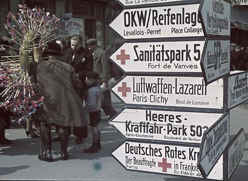718 Франция времен немецкой оккупации