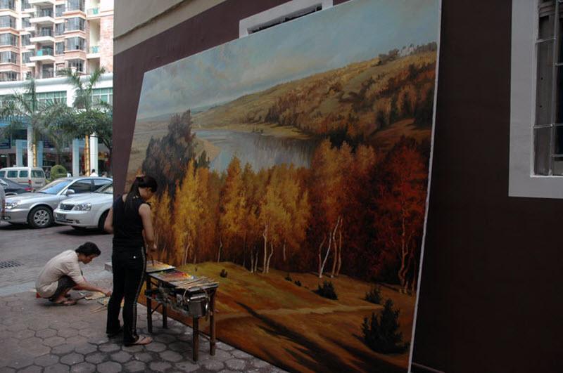866 Дафен   город художников в Китае