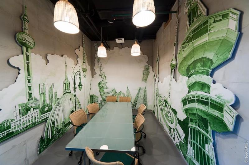 Необычный офис: Зелено и молодо
