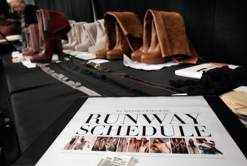 Неделя моды в нью-йорке - за кулисами