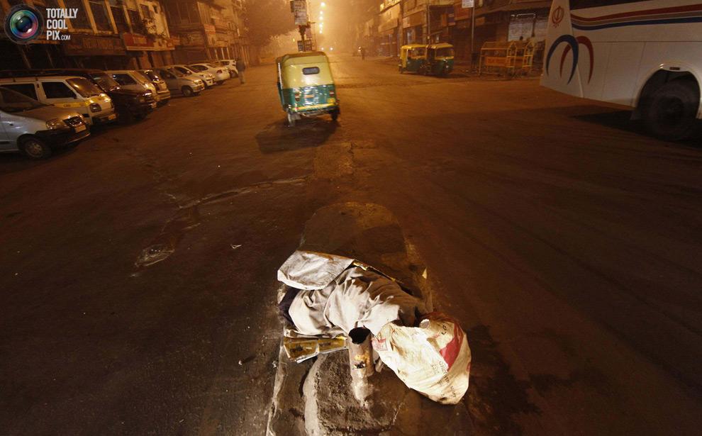 Tunawisma di New Delhi
