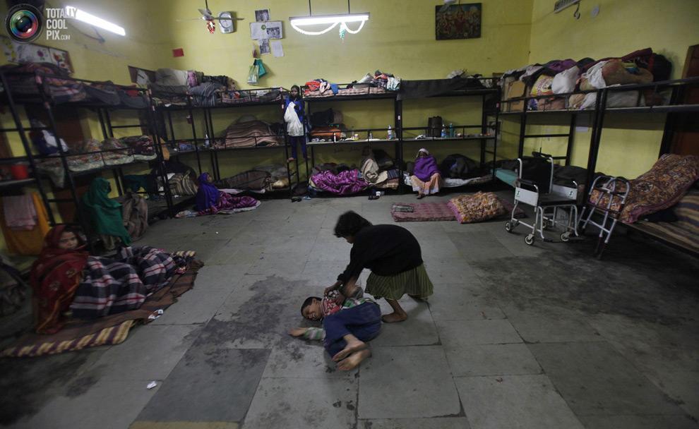 Бездомные Нью-Дели
