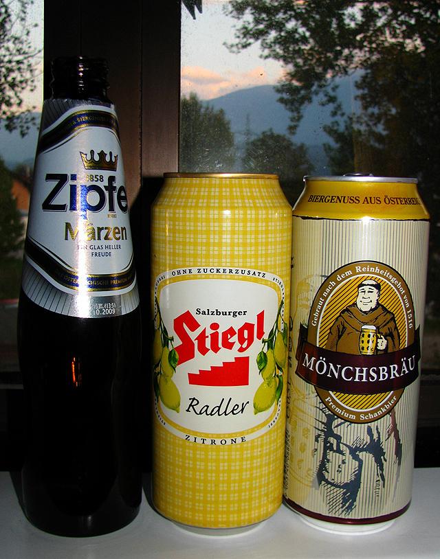 Еда и алкоголь в австрийских супермаркетах