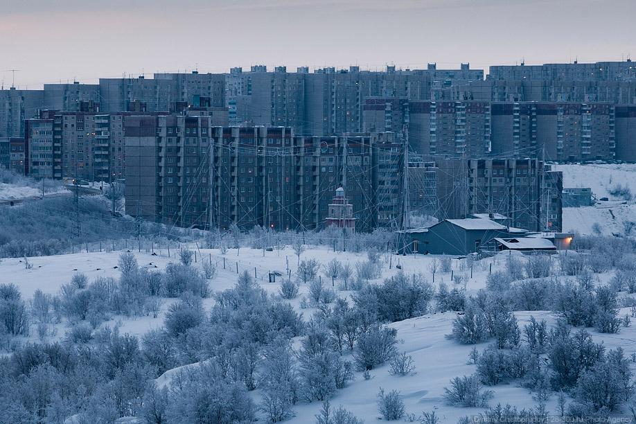 Заполярье. Суровый Мурманск.