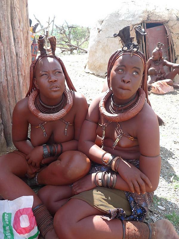 Красавицы племени химба. Намибия, Каоколенд.