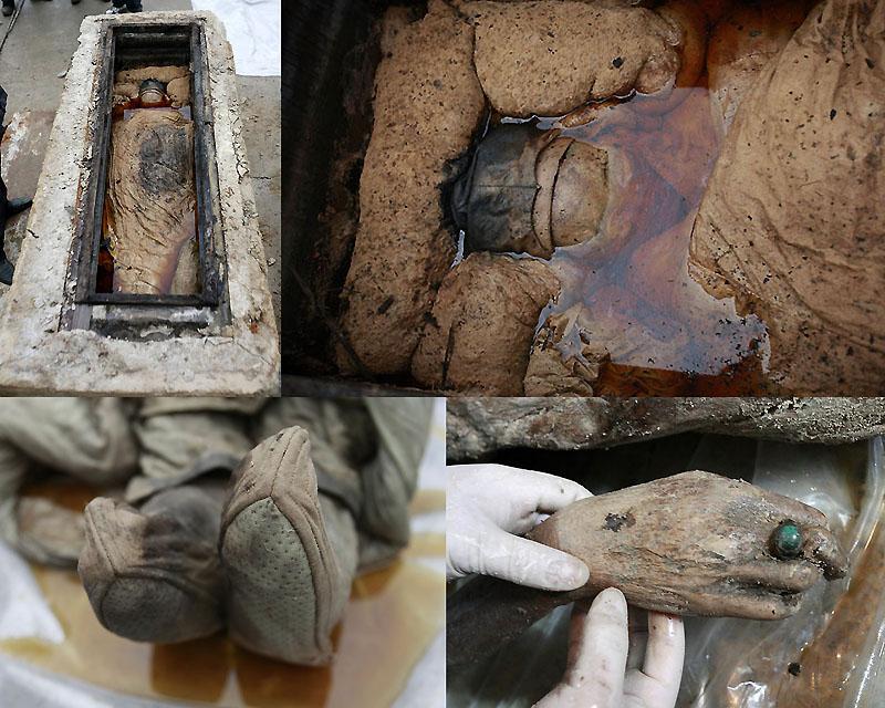 0019 В Китае строители нашли мумию
