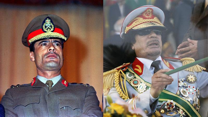 002 Муаммар Каддафи в разные годы своего правления